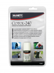 McNett COTOL-240 15ml in multilingual clamshell for use with Aquasu